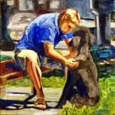 Dog's Best Friend (24 x 24)