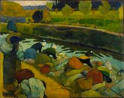 Gaugin's Washerwoman, Arles 1888