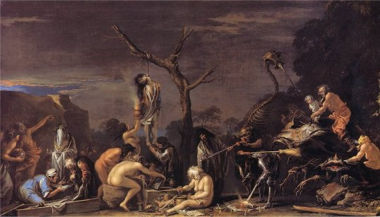 Witches at their Incantations By Salvator Rosa