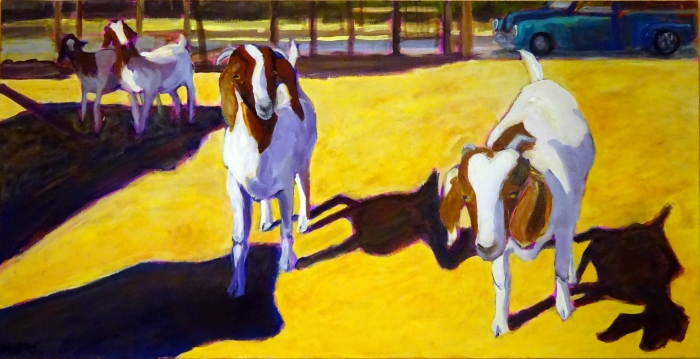 Goat Parade (24 x 48)