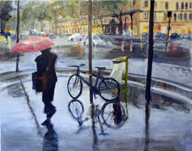Rainy Day In Paris (24 x 30)