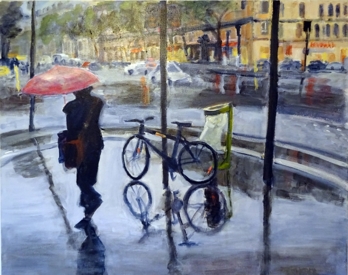 Rainy Day In Paris (24 x 30)