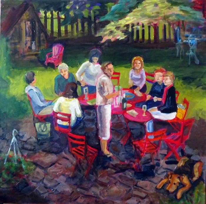 Garden Party (36 x 36)