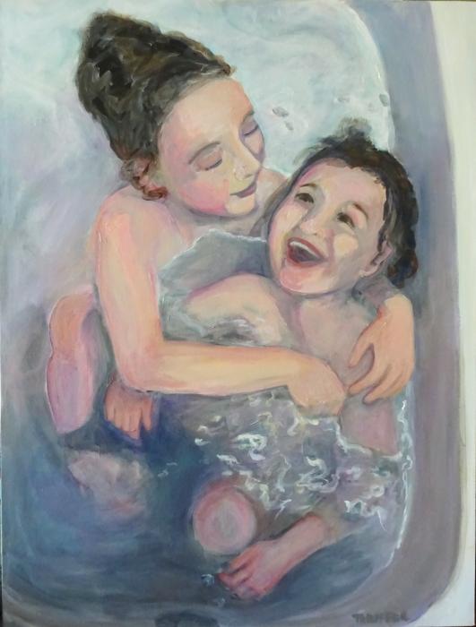 The Bath (48 x 36)